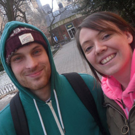 Mummy blogger Polly Walker and partner