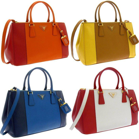 SS13 PREVIEW: Prada's new Saffiano Lux Galleria handbags