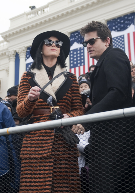 Katy Perry and John Mayer at President Obama's swearing-in ceremony