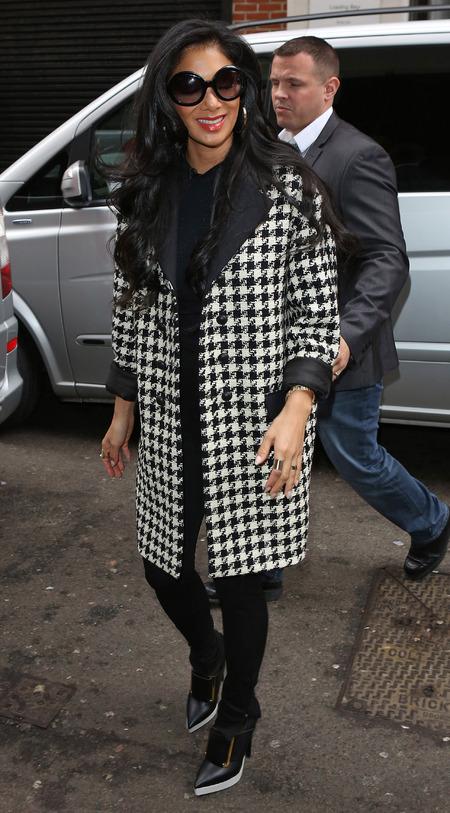COAT CRUSH: Nicole Scherzinger's houndstooth prints