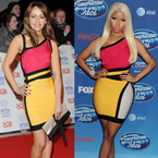 FASHION FIGHT: Samia Ghadie v Nicki Minaj in Herve Leger
