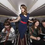 Kelly Brook helps launch a new form of in-flight entertainment