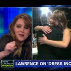 WATCH: Jennifer Lawrence reacts to SAG dress drama