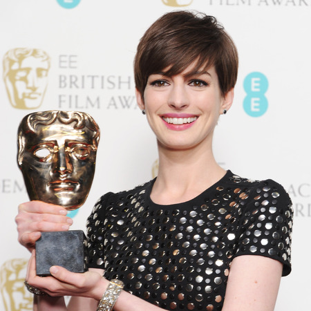Anne Hathaway at the 2013 BAFTAs