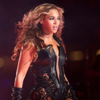 Beyoncé leathers up to storm the Super Bowl stage