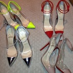 Kim Kardashian shows off her Louboutin shoe collection