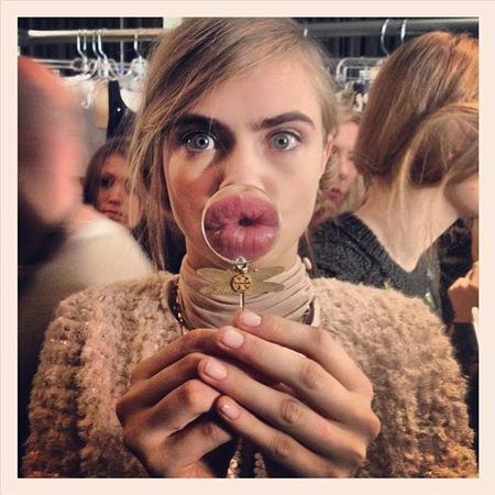 Cara Delevingne's eyebrow selfies