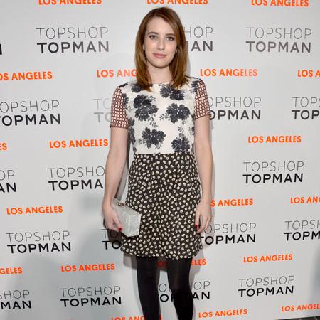Emma Roberts at Topshop Topman LA store opening