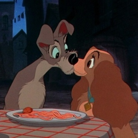 Lady And The Tramp spaghetti kiss scene
