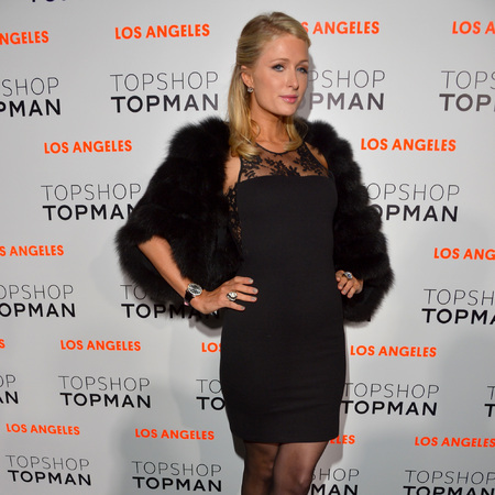 Paris Hilton at Topshop Topman LA store opening