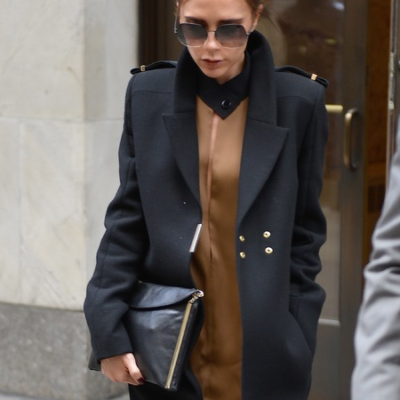 Victoria Beckham's sleek clutch bag