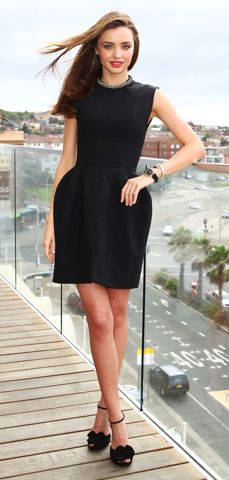 Miranda Kerr's structured black dress