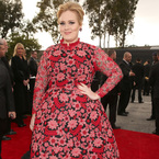 Adele wows in floral Valentino Couture at 2013 Grammy Awards