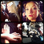 LFW AW13: Hair & beauty is sleek and smoky at DAKS