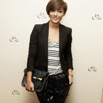 Frankie Sandford at The Cambridge Satchel Company opening
