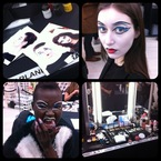 LFW: MAC go graphic at Vivienne Westwood Red Label AW13