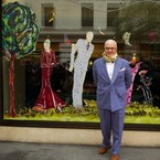 Manolo Blahnik unveils LFW window at The May Fair Hotel