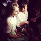 LFW: Mollie King & Frankie Sandford at Moschino AW13