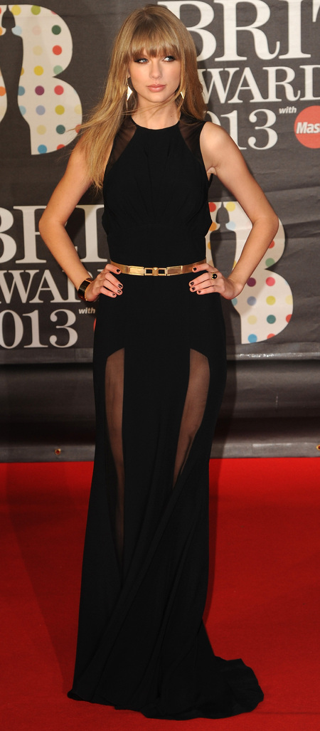 Taylor Swift in black Elie Saab