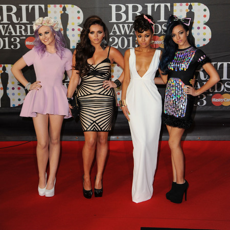 LONDON, ENGLAND - FEBRUARY 20: Perrie Edwards, Jesy Nelson, Leigh-Anne Pinnock and Jade Thirwall of Little Mix attend the Brit Awards 2013 at the 02 Arena on February 20, 2013 in London, England.  (Photo by Eamonn McCormack/Getty Images)