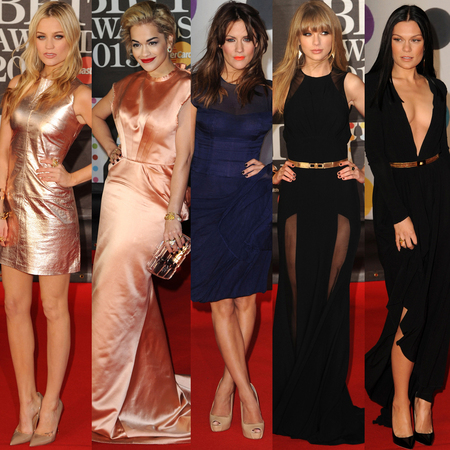 Brit Awards 2013 red carpet dresses