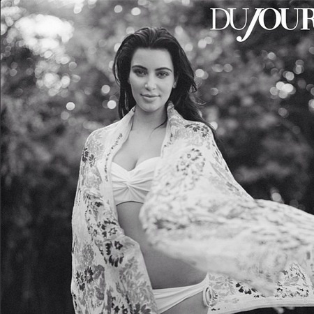 Kim Kardashian new pregnancy swimwear shoot
