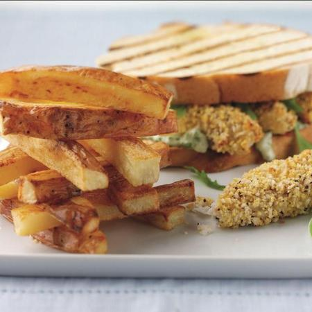 National Chip Week Posh fish finger sandwich recipe
