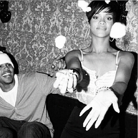 Rihanna and Chris Brown at her 20th