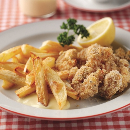 National Chip Week scampi and chips with homemade salad cream recipe