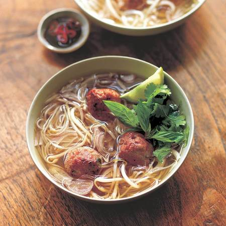 Vietnamese noodle meatball soup recipe