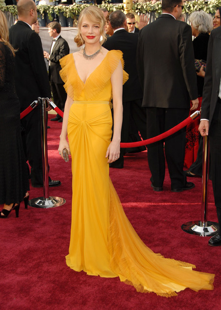 Michelle Williams in canary yellow Vera Wang in 2006