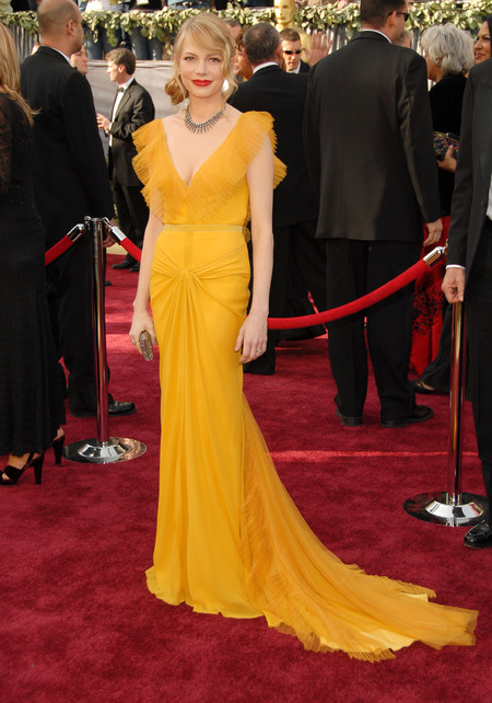 Michelle Williams in Vera Wang dress at the Oscars 2006
