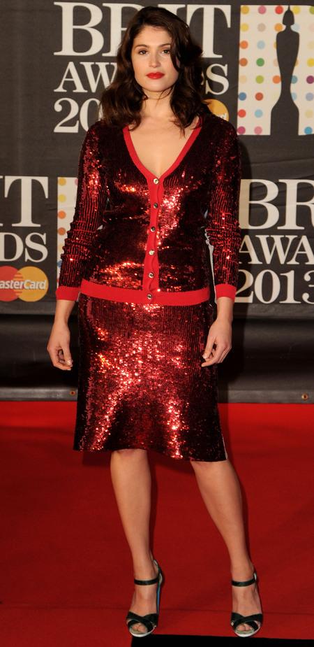 Gemma Arterton in red Jonathan Saunders