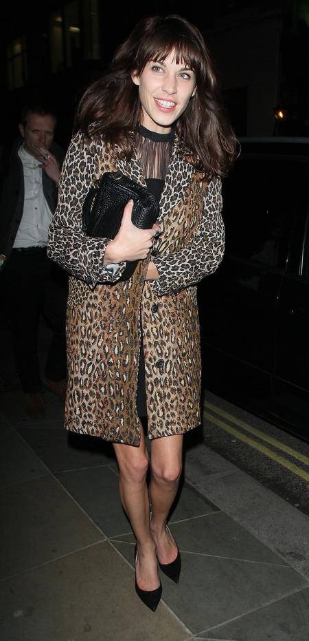 Alexa Chung wears Antipodium leopard print coat