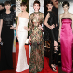 Anne Hathaway's red carpet moments