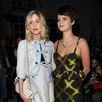 Pregnant Peaches chic at London Fashion Week