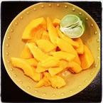 Tasty Tweets: Rosie HW enjoys organic papaya