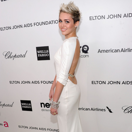 Miley Cyrus at Elton John Oscar afterparty