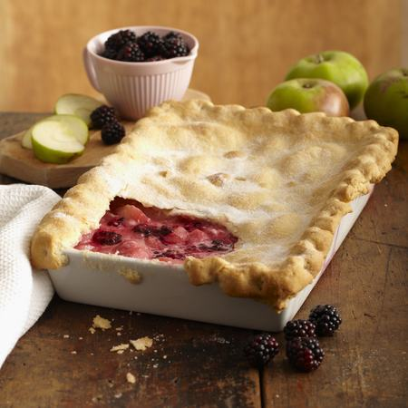British Pie Week Recipe: Creamy Apple and Blackberry Pie