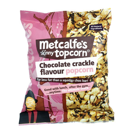 Metcalfe's Skinny Popcorn Chocolate Crackle flavour