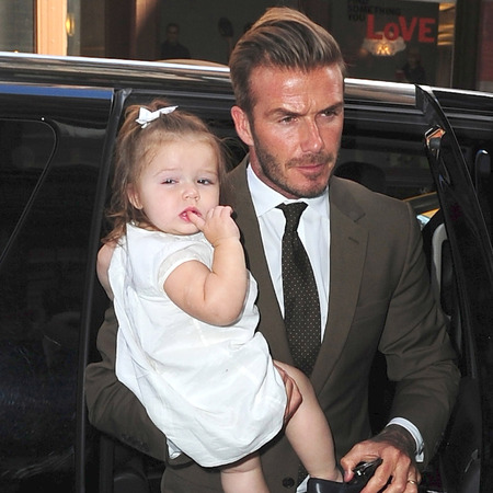 David Beckham with Harper Beckham