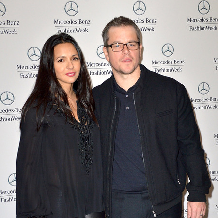 Matt Damon and wife