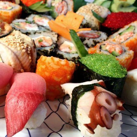 Japanese sushi dinner
