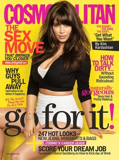 Kim Kardashian for US Cosmopolitan cover March 2013