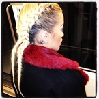 HAIR ENVY: Rita Ora's double braid at Paris Fashion Week