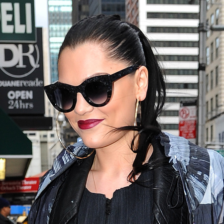 Jessie J's wet look ponytail