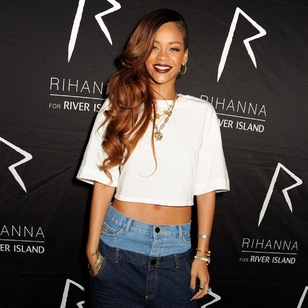 Rihanna rocks own River Island collection for launch afterparty