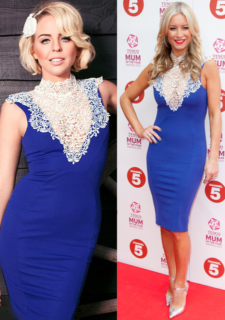 Denise Van Outen in Lydia Bright SS13 Gabriella dress