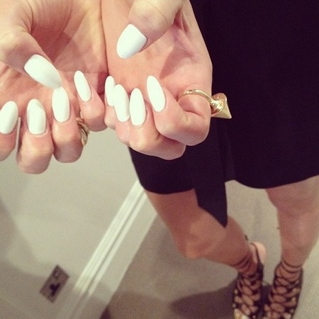 Jessie J white nails for The Voice UK by Jenny Longworth