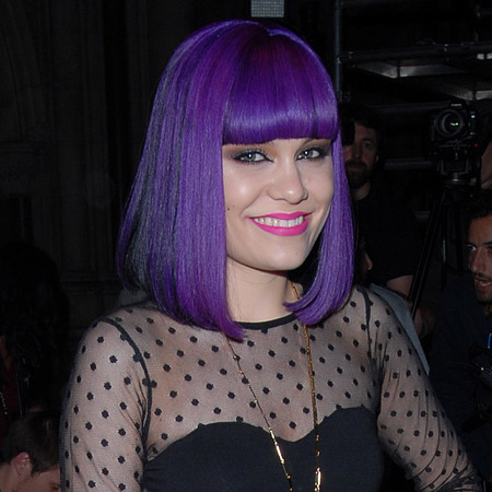 Jessie J's purple bob